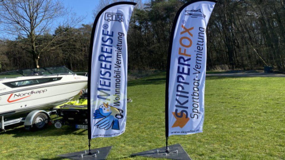 SKIPPERFOX® Sportboot Fahnen wehen