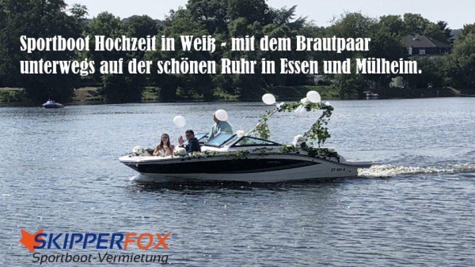 SKIPPERFOX® Sportboot Hochzeit in Weiss