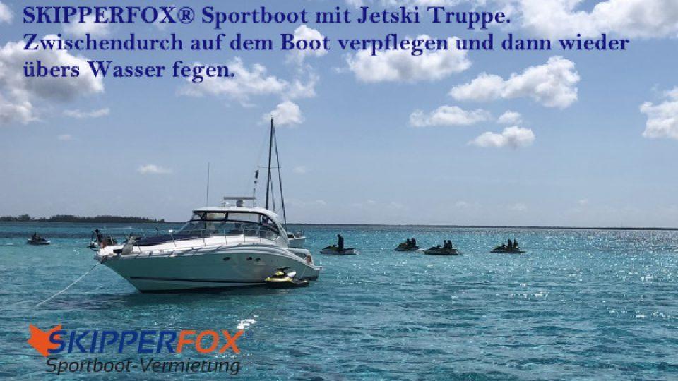 SKIPPERFOX® Sportboot mit Jetski Truppe 1