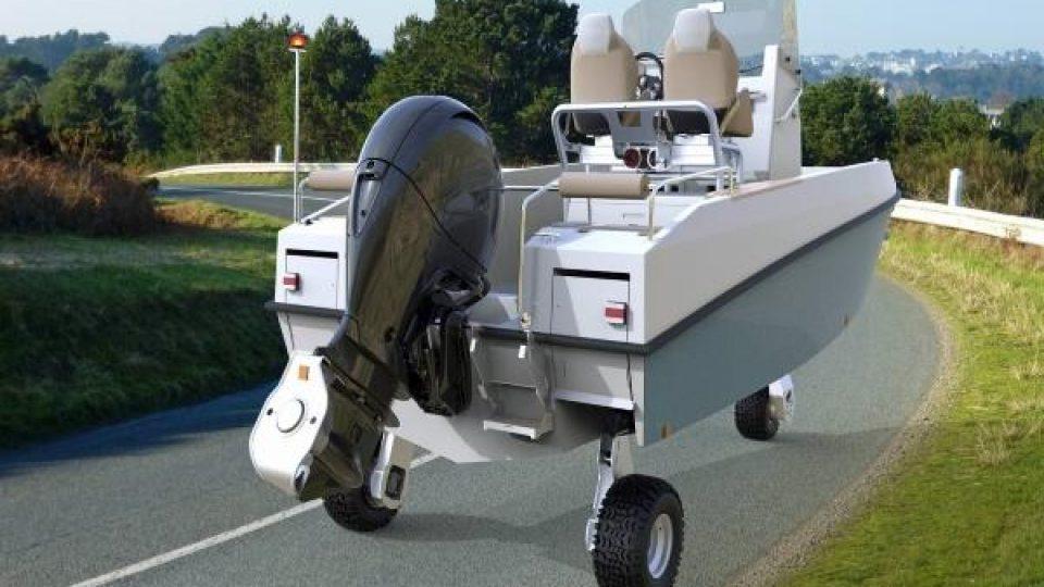 Skipperfox® Motorboot mit Rädern